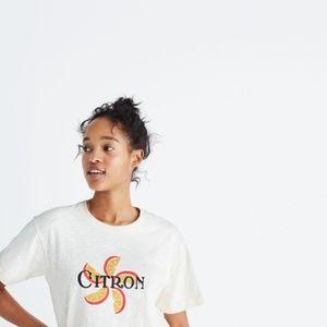 Madewell Women's Citron Graphic Boxy T-shirt L